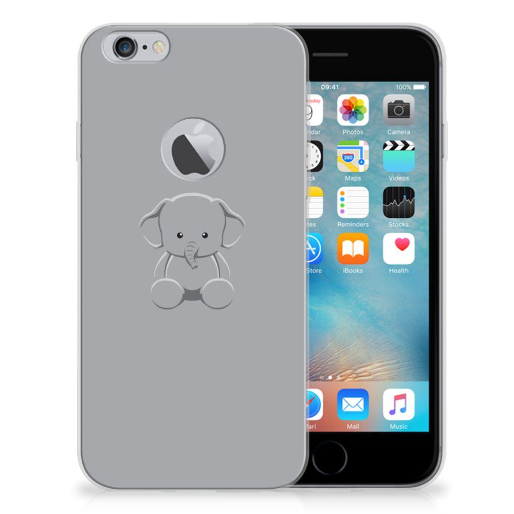Apple iPhone 6 Plus | 6s Plus Telefoonhoesje met Naam Grijs Baby Olifant