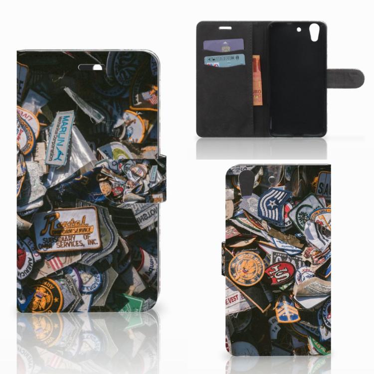 Huawei Y6 II | Honor 5A Telefoonhoesje met foto Badges