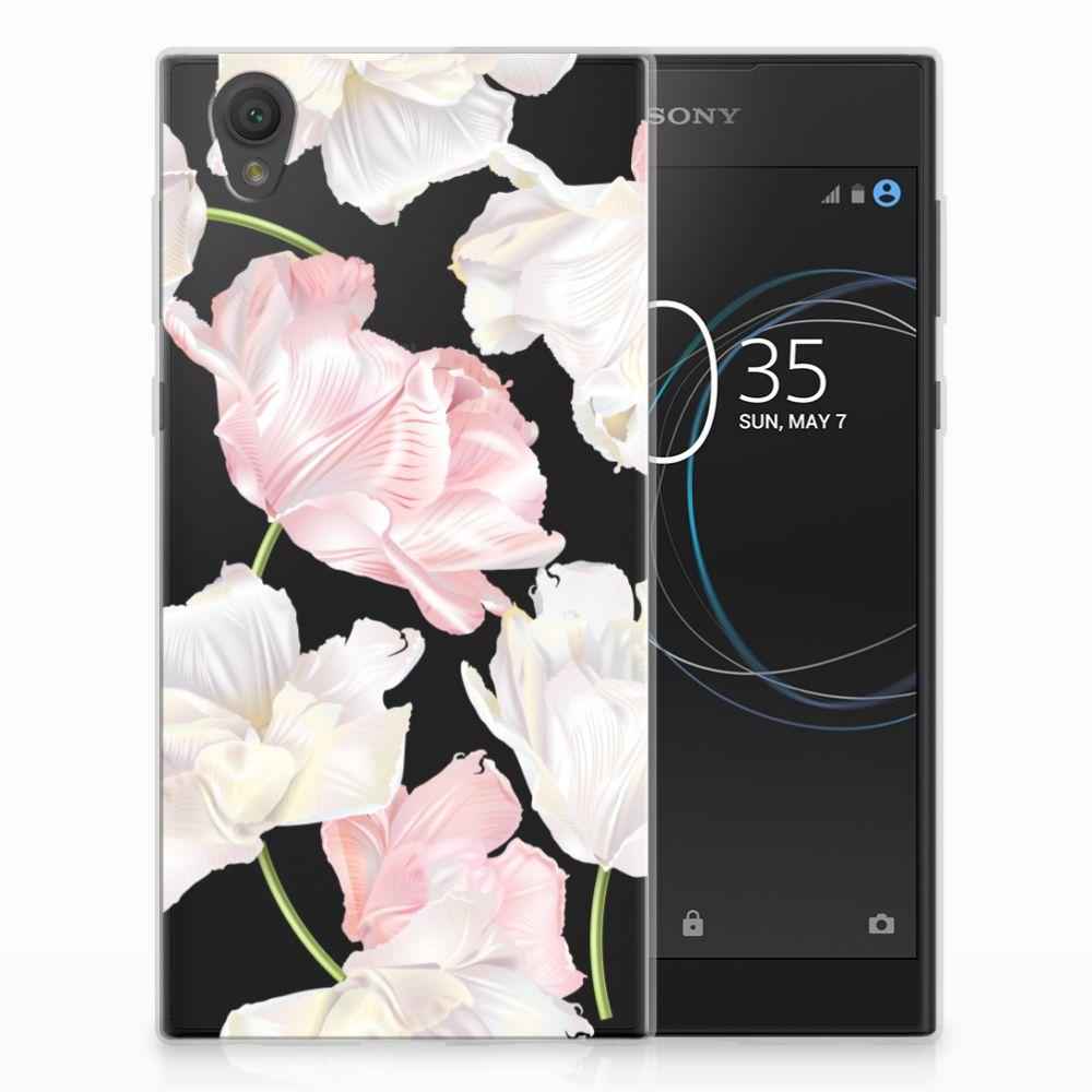 Sony Xperia L1 TPU Hoesje Design Lovely Flowers