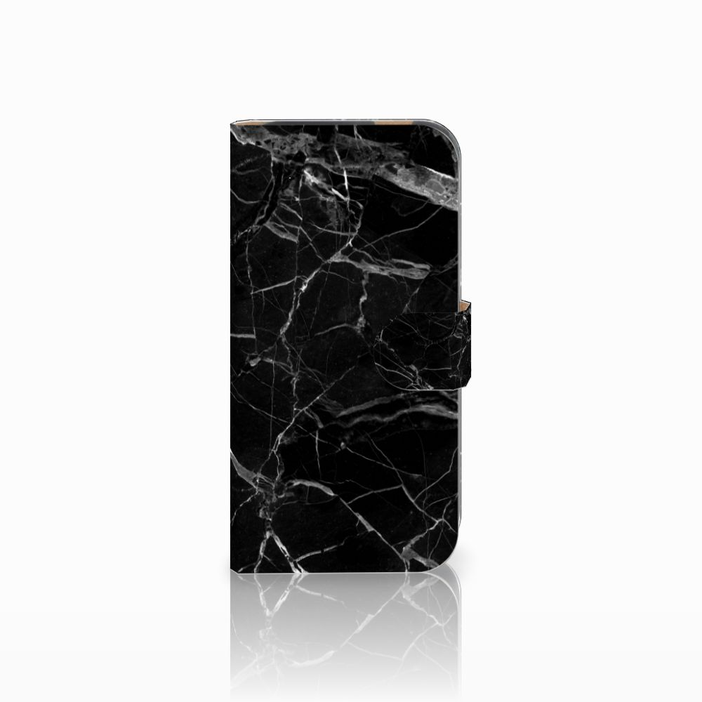HTC One M8 Uniek Boekhoesje Marmer Zwart