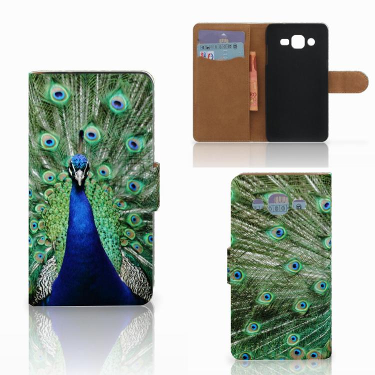 Samsung Galaxy J2 (2015) Telefoonhoesje met Pasjes Pauw