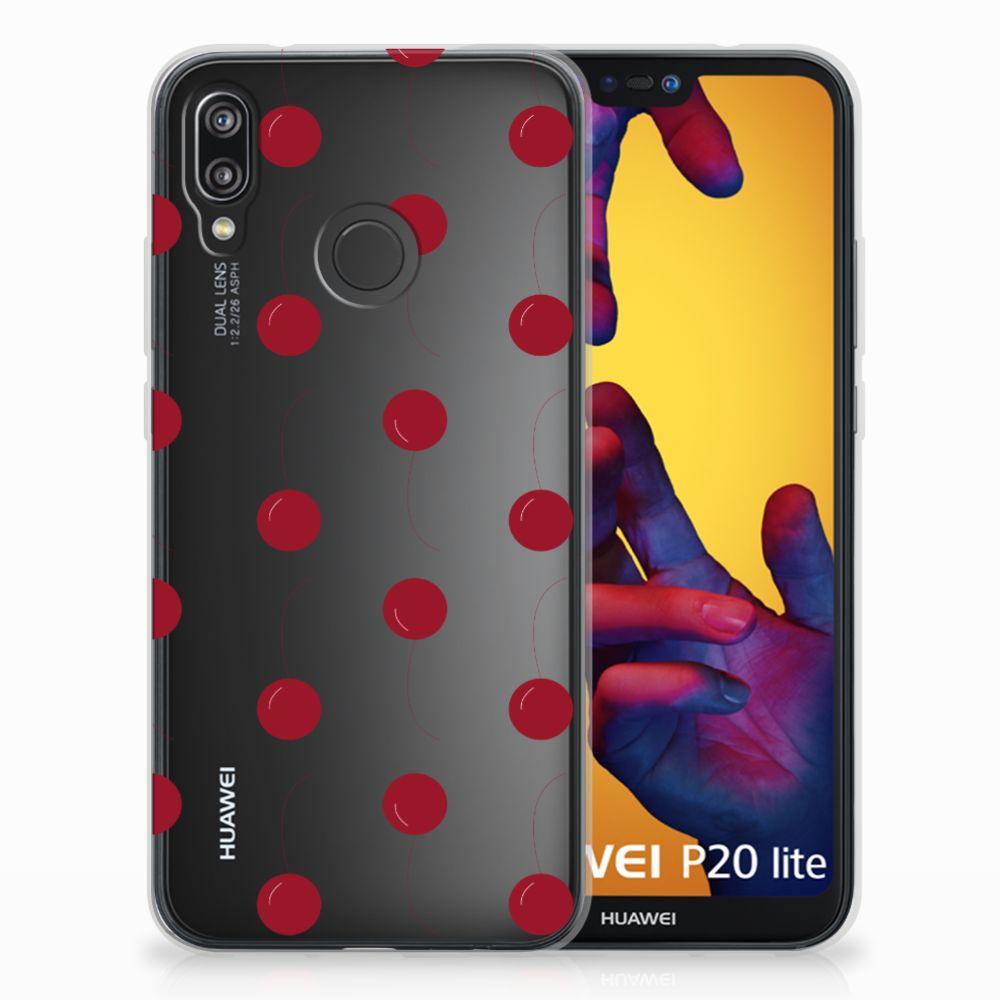 Huawei P20 Lite Siliconen Case Cherries