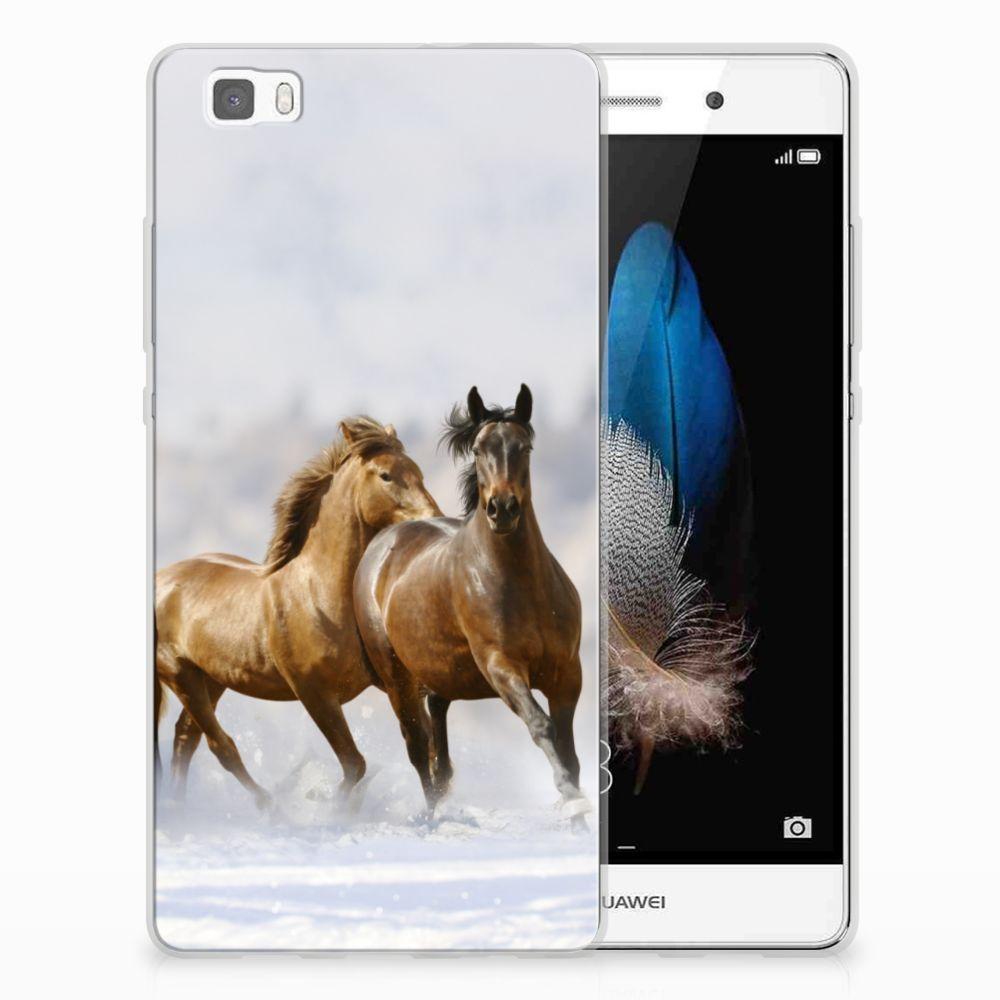 Huawei Ascend P8 Lite Uniek TPU Hoesje Paarden