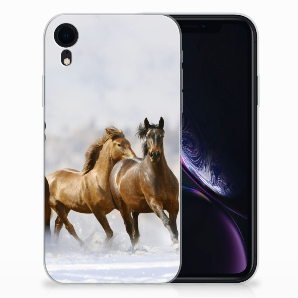 Apple iPhone Xr TPU Hoesje Paarden