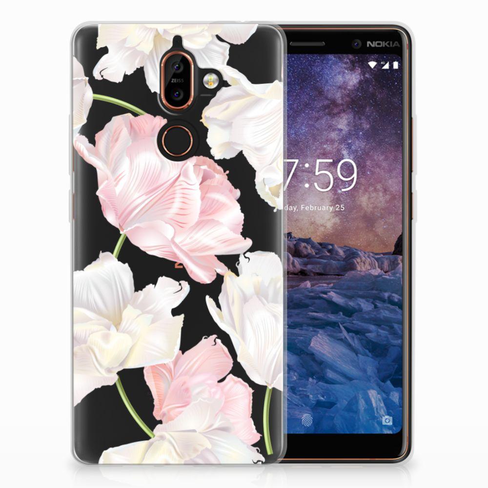 Nokia 7 Plus TPU Hoesje Design Lovely Flowers