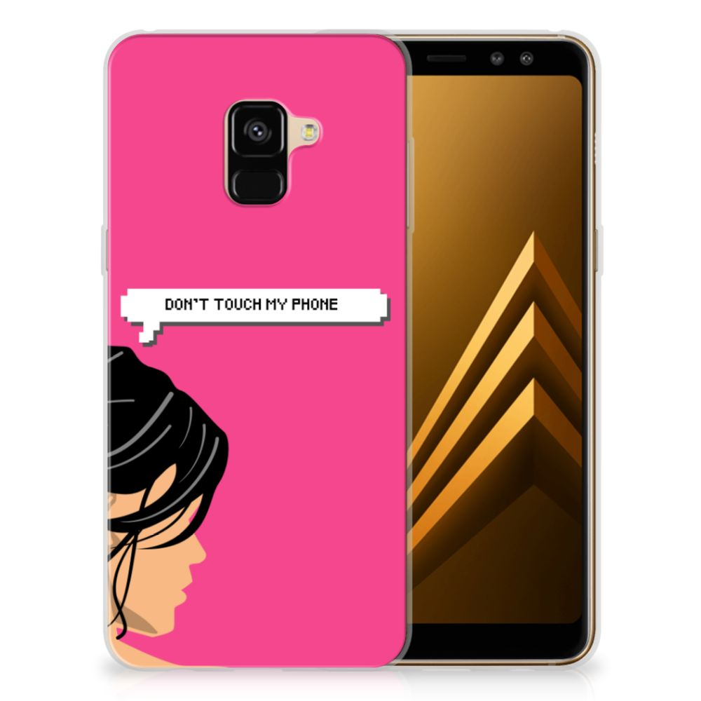 Samsung Galaxy A8 Plus (2018) Silicone-hoesje Woman DTMP
