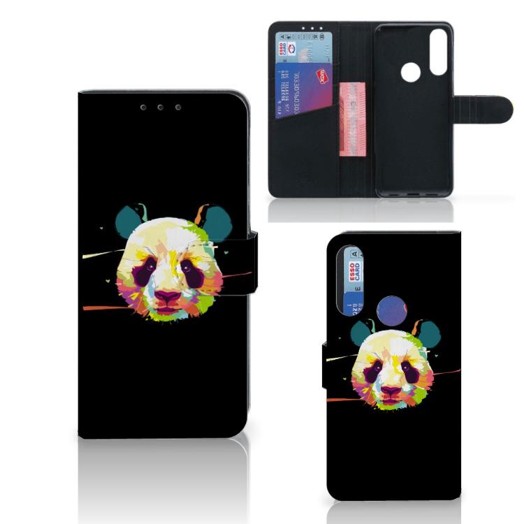 Alcatel 1S 2020 Leuk Hoesje Panda Color