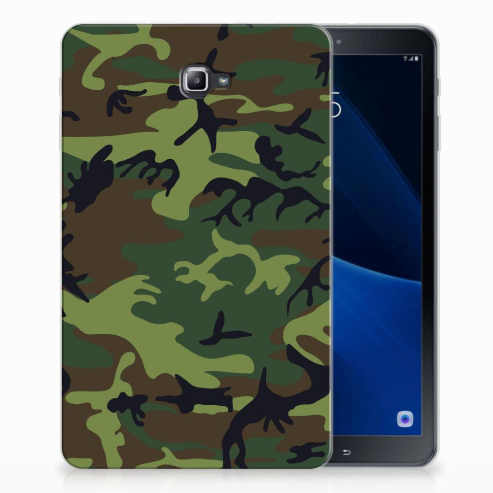 Samsung Galaxy Tab A 10.1 Tablethoesje Design Army Dark