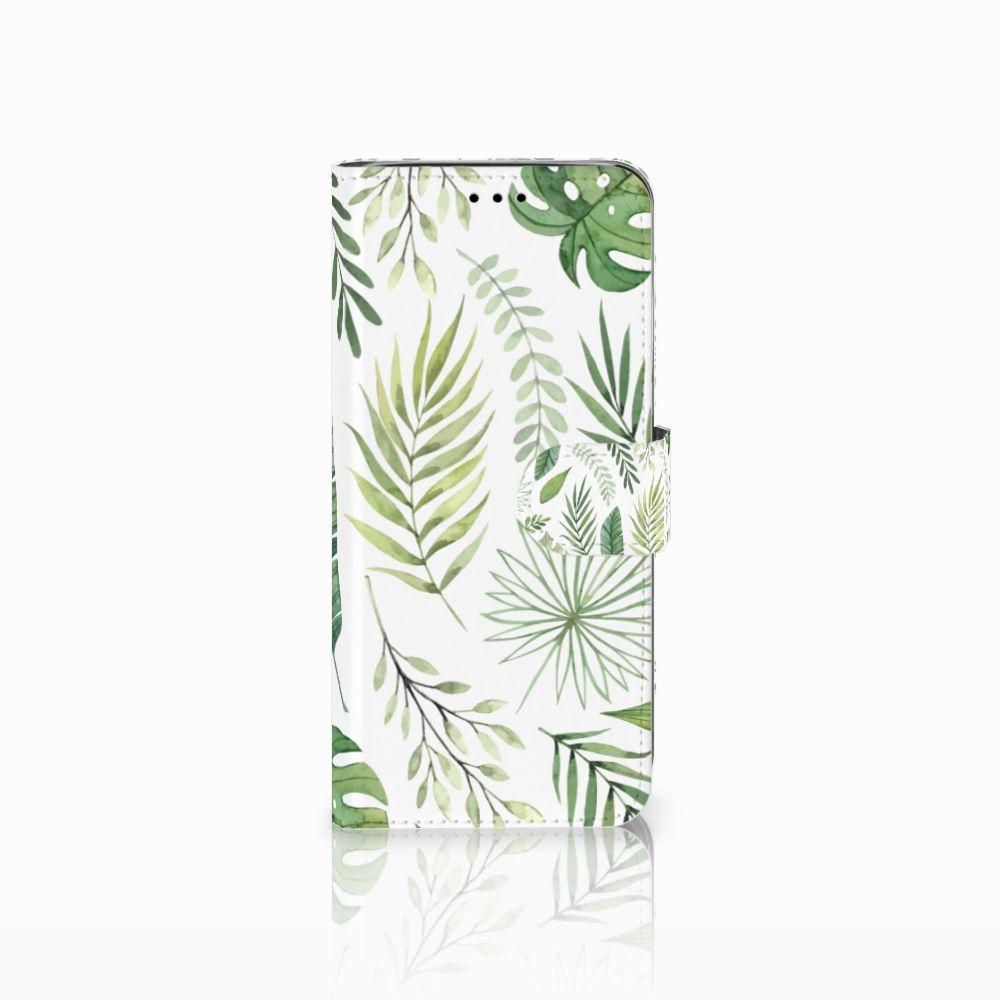 Samsung Galaxy A6 2018 Uniek Boekhoesje Leaves