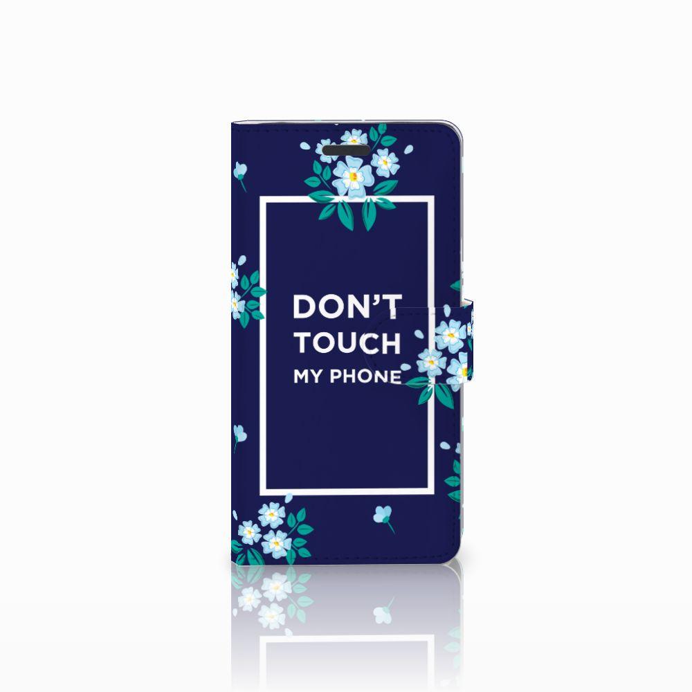 Samsung Galaxy Note 5 Boekhoesje Flowers Blue DTMP