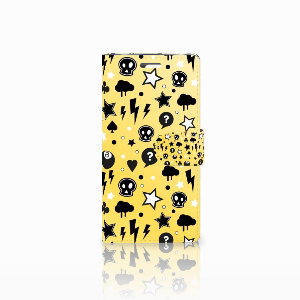 LG K10 2015 Uniek Boekhoesje Punk Yellow