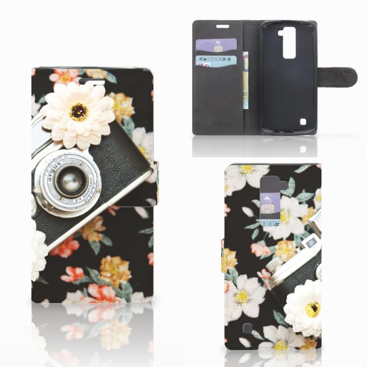 LG K10 2015 Telefoonhoesje met foto Vintage Camera