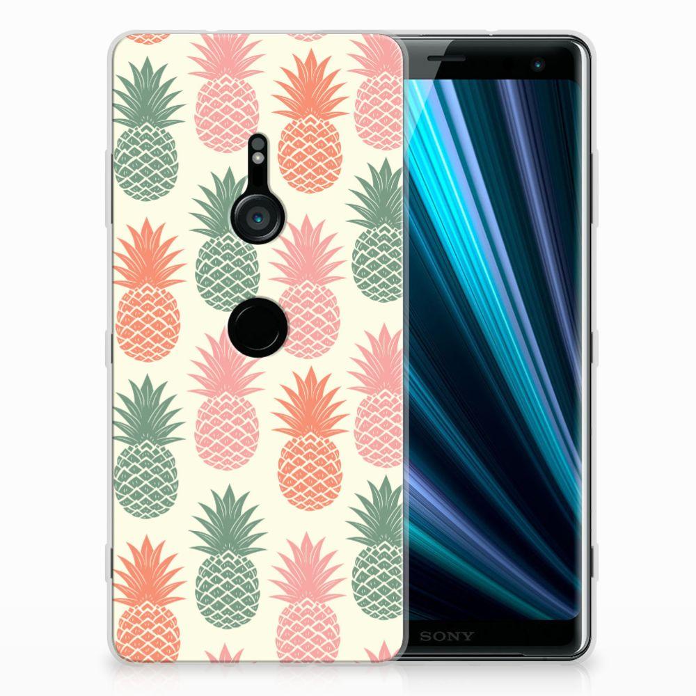 Sony Xperia XZ3 Siliconen Case Ananas