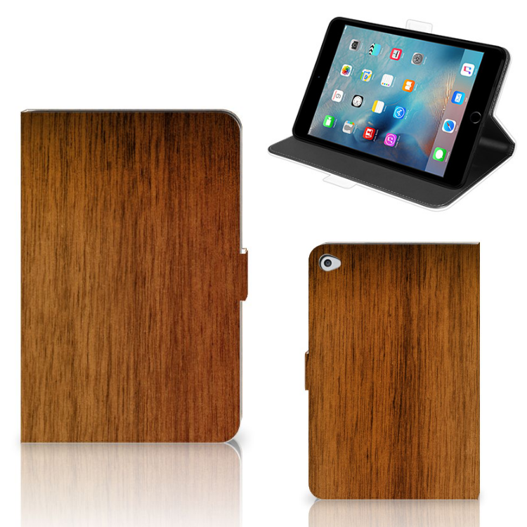 Apple iPad Mini 5 Tablet Book Cover Donker Hout