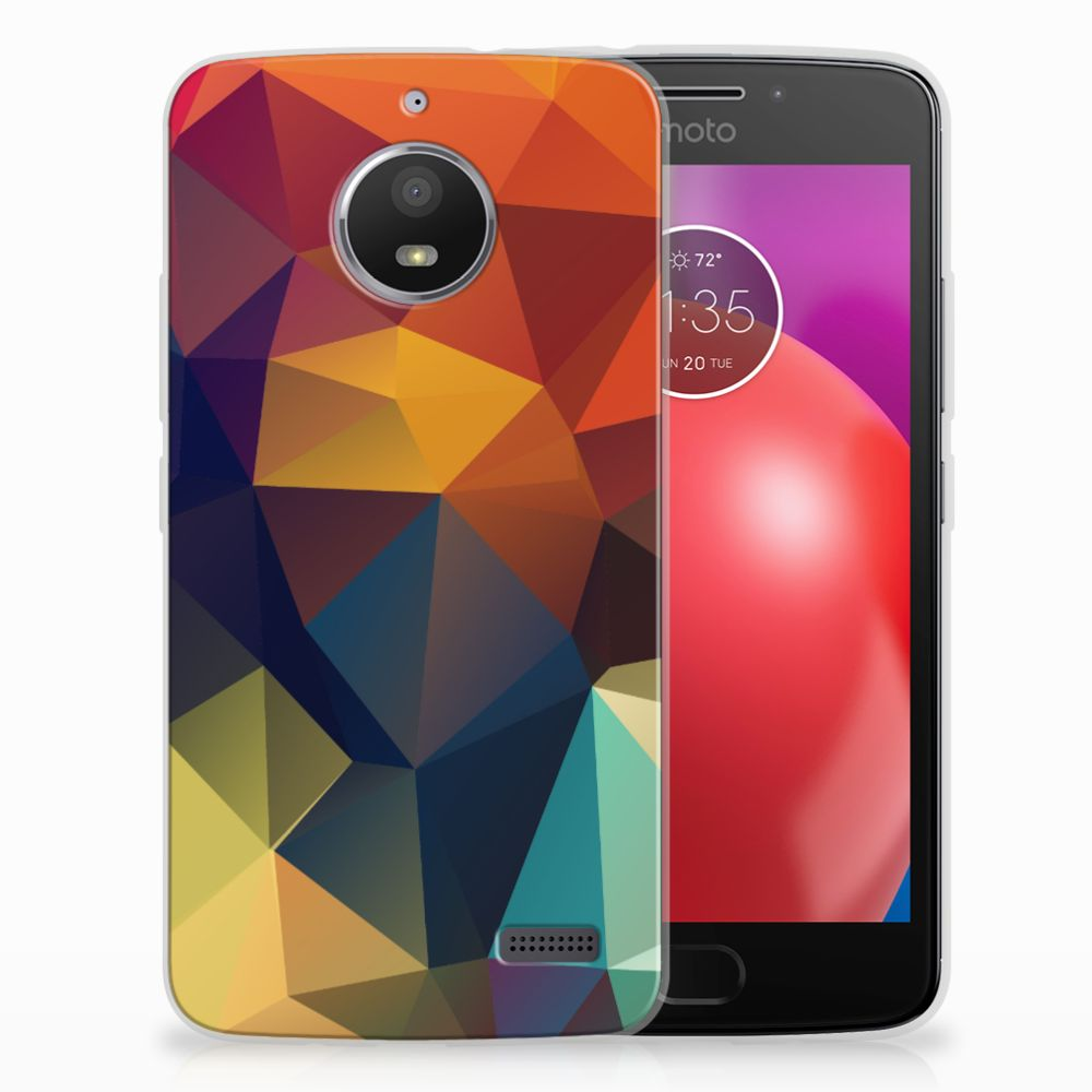 Motorola Moto E4 TPU Hoesje Polygon Color