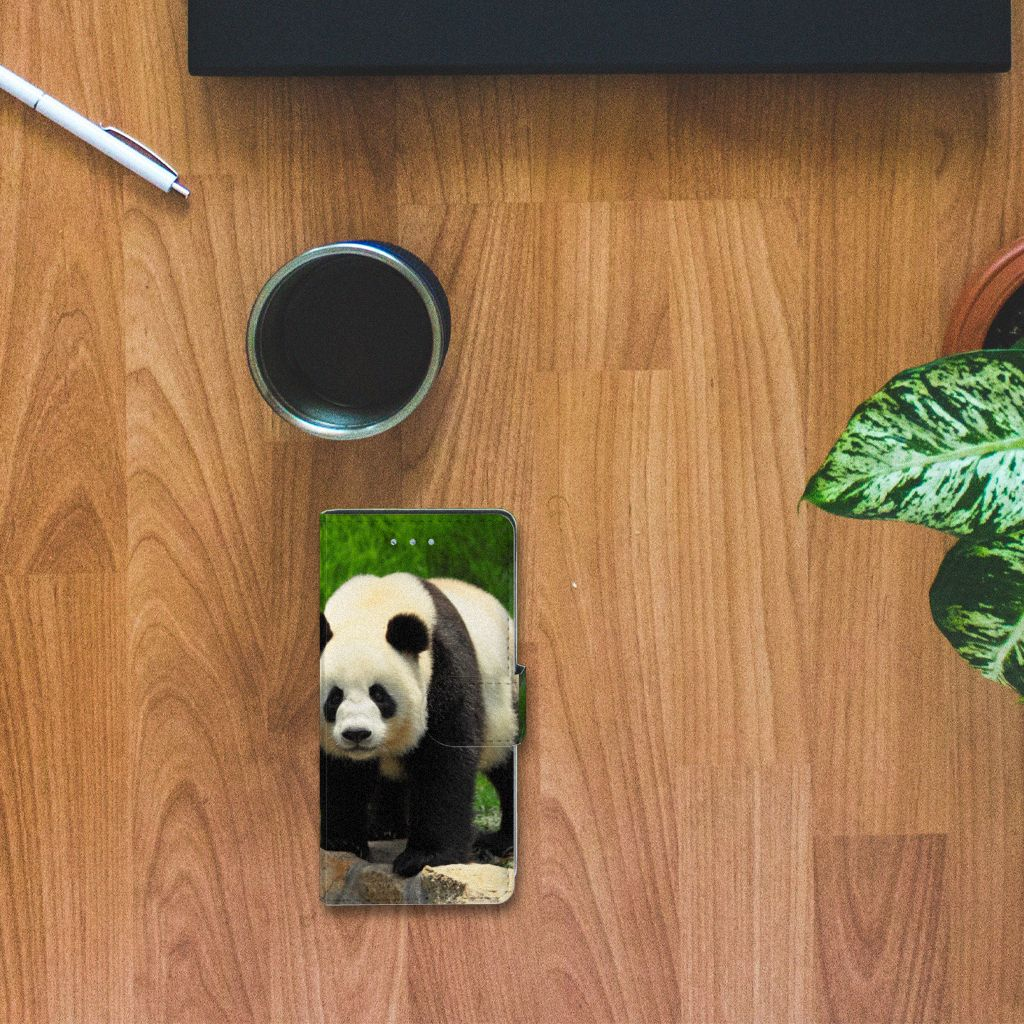 Huawei P9 Lite Telefoonhoesje met Pasjes Panda
