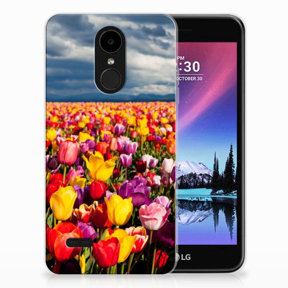 LG K4 (2017) Uniek TPU Hoesje Tulpen