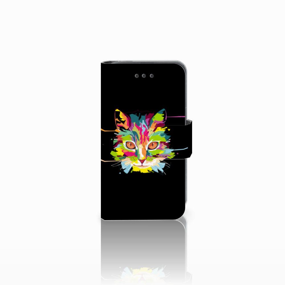 Nokia Lumia 530 Uniek Boekhoesje Cat Color