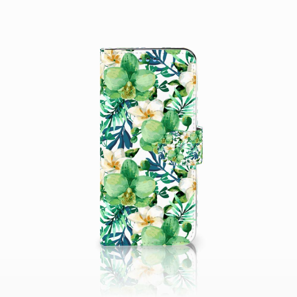 Samsung Galaxy S9 Uniek Boekhoesje Orchidee Groen
