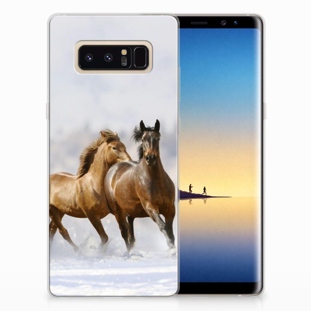 Samsung Galaxy Note 8 TPU Hoesje Paarden