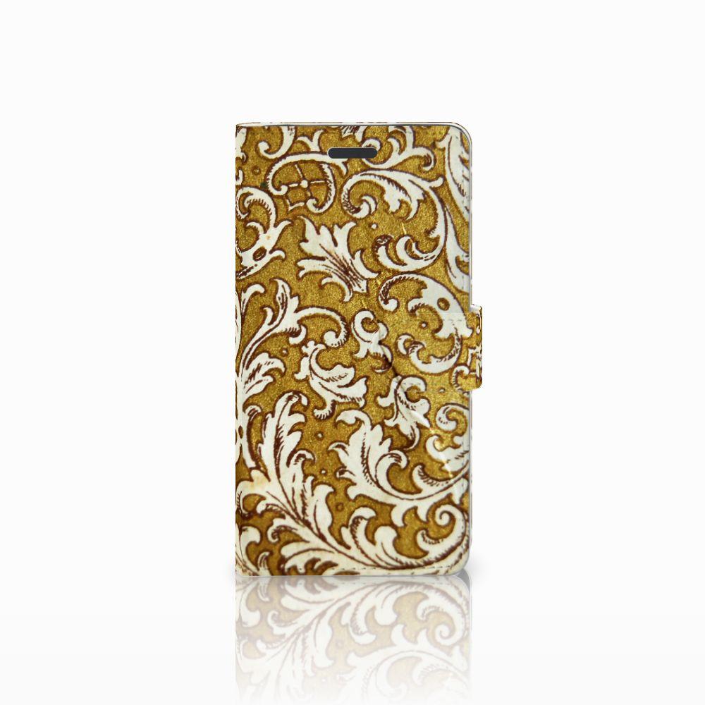 Samsung Galaxy Note 5 Boekhoesje Design Barok Goud