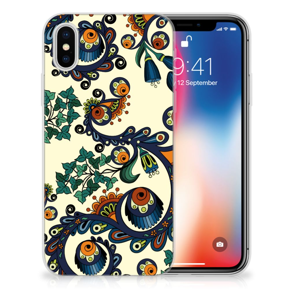 Apple iPhone X | Xs TPU Hoesje Design Barok Flower