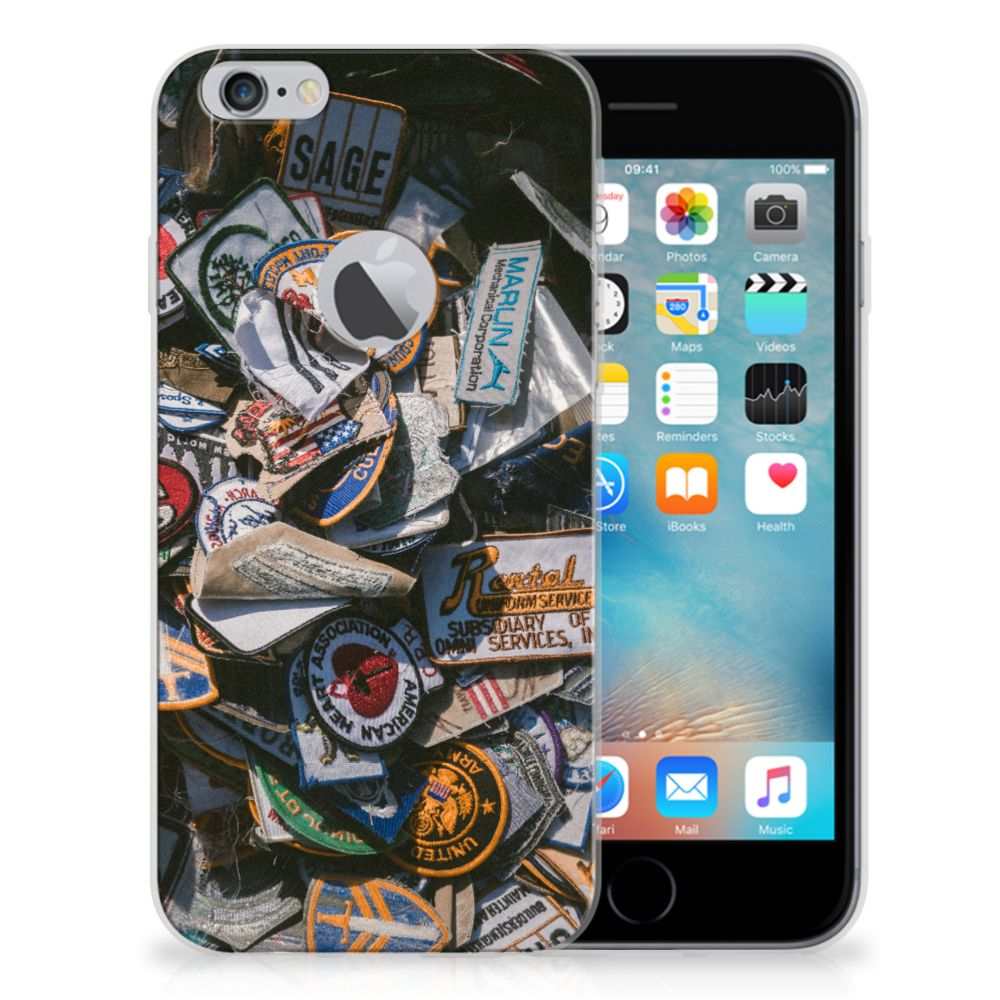 Apple iPhone 6 Plus | 6s Plus Siliconen Hoesje met foto Badges