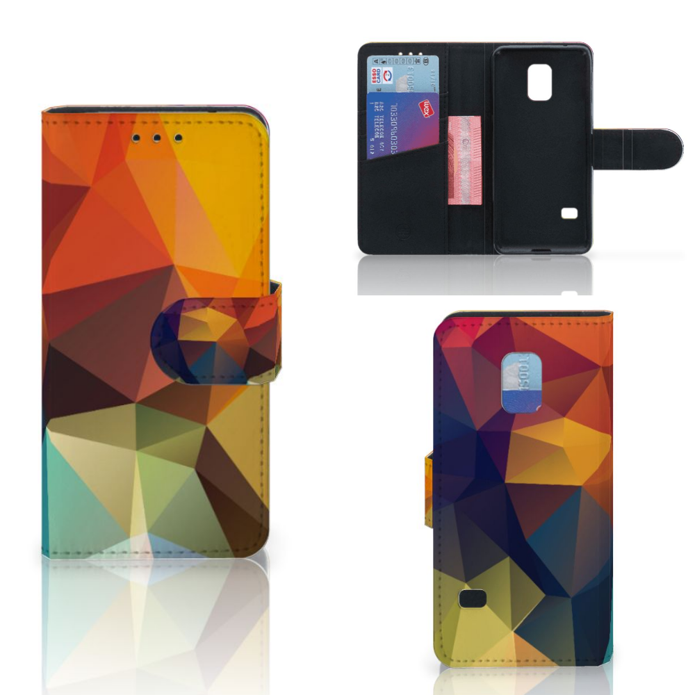 Samsung Galaxy S5 Mini Bookcase Polygon Color