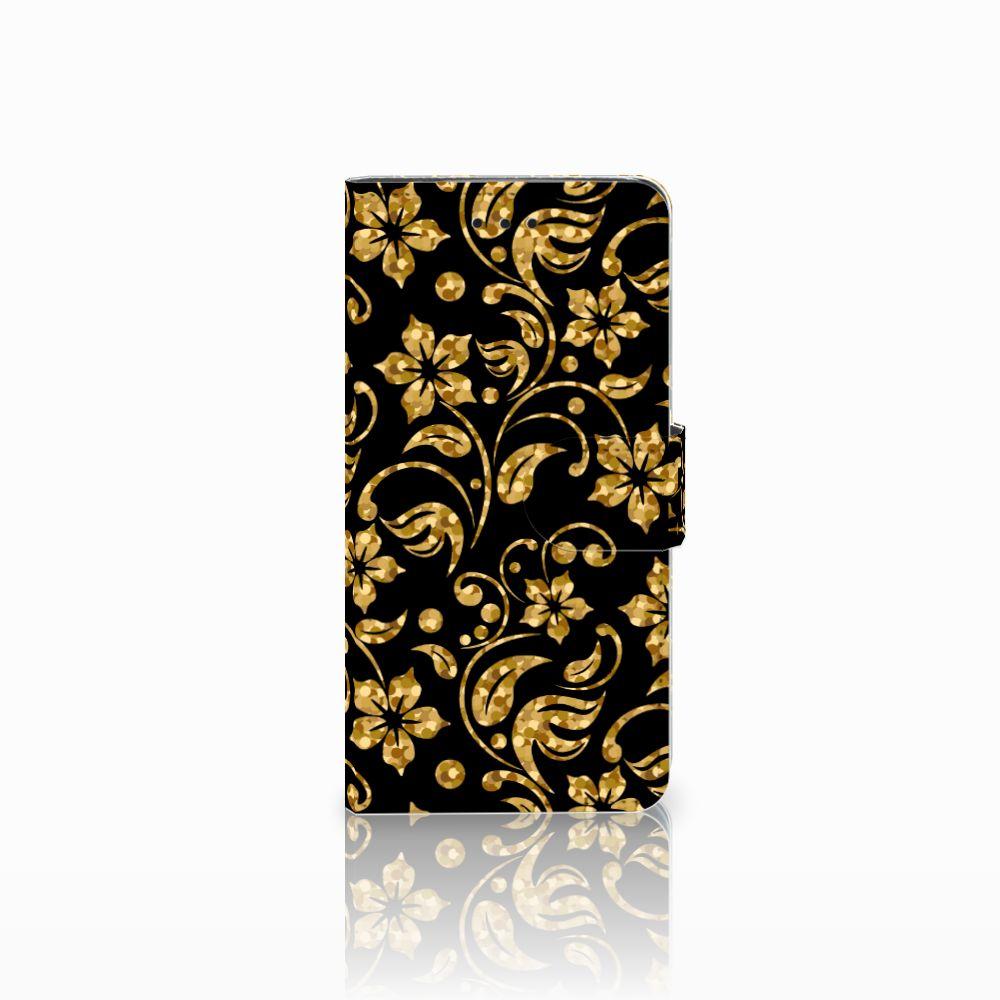 Huawei Y5 2018 Hoesje Gouden Bloemen