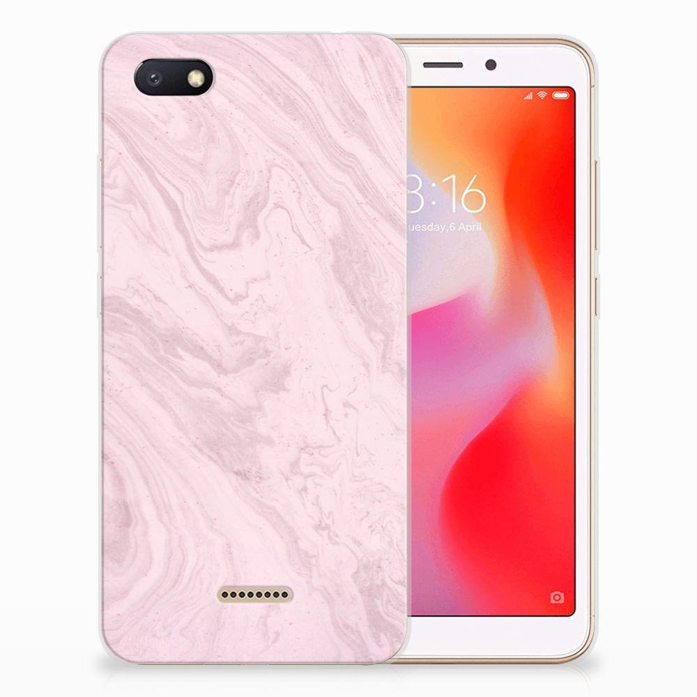 Xiaomi Redmi 6A TPU Siliconen Hoesje Marble Pink
