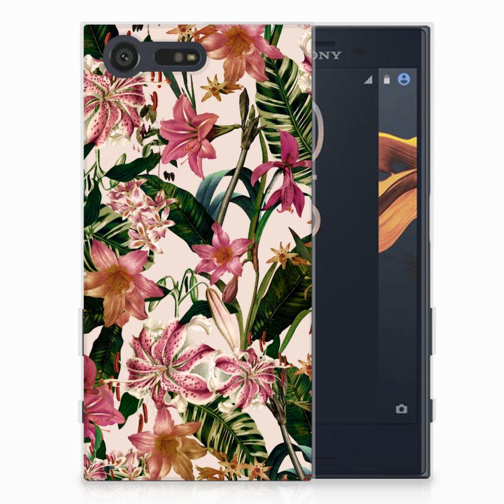Sony Xperia X Compact Uniek TPU Hoesje Flowers