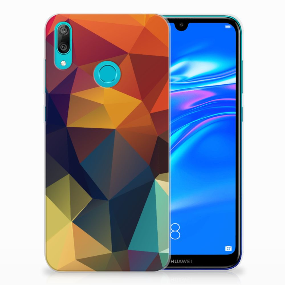 Huawei Y7 2019 TPU Hoesje Polygon Color