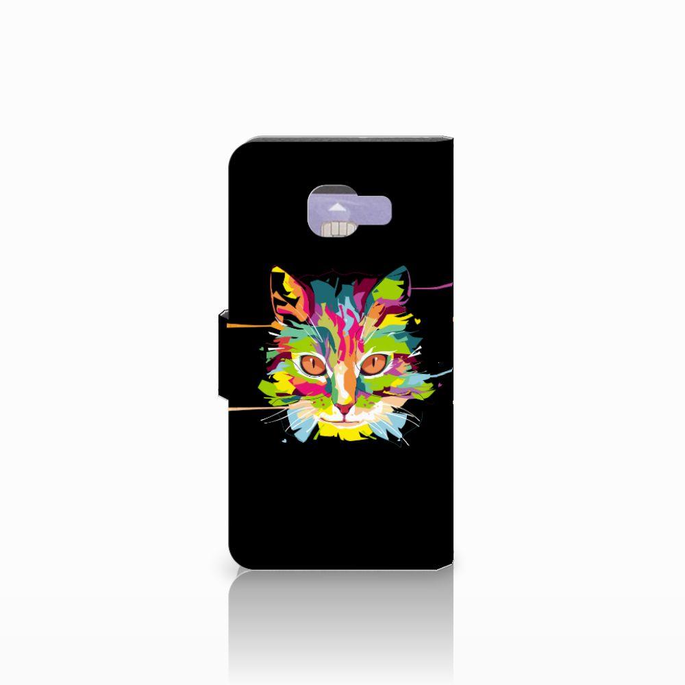 Samsung Galaxy A3 2016 Leuke Hoesje Cat Color
