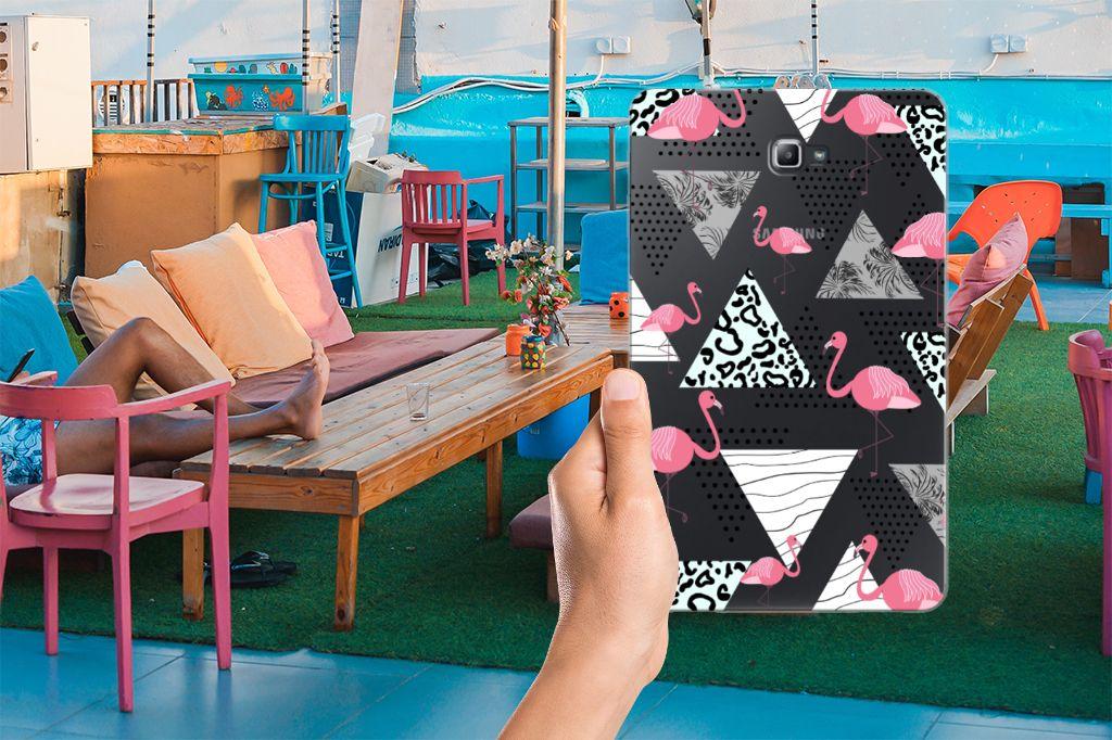 Samsung Galaxy Tab A 10.1 Back Case Flamingo Triangle