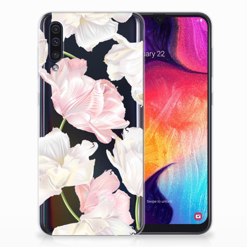 Samsung Galaxy A50 TPU Hoesje Design Lovely Flowers