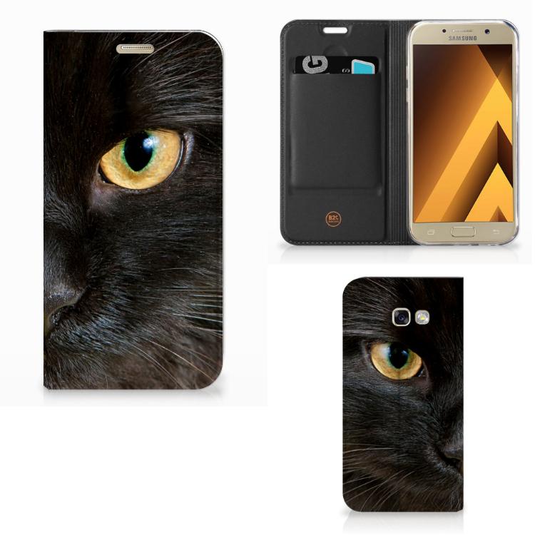 Samsung Galaxy A5 2017 Hoesje maken Zwarte Kat