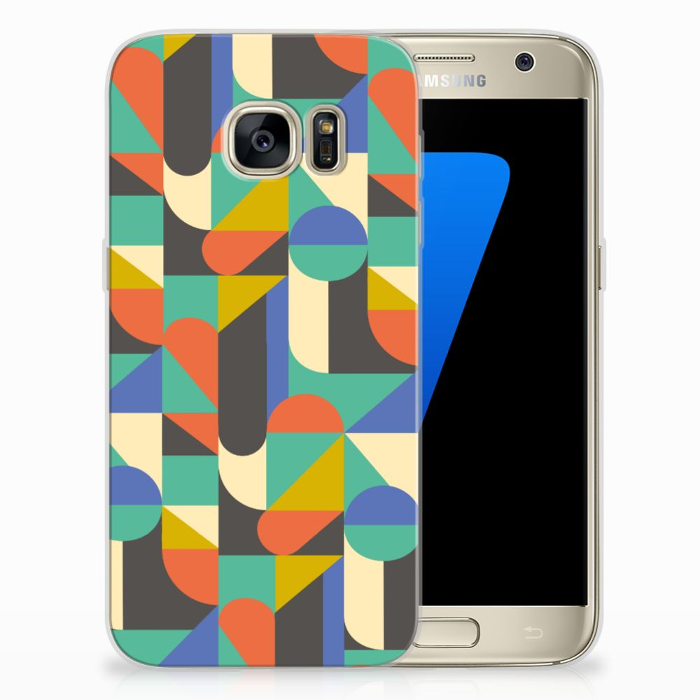 Samsung Galaxy S7 Uniek TPU Hoesje Funky Retro
