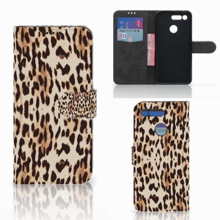 Honor View 20 Telefoonhoesje met Pasjes Leopard