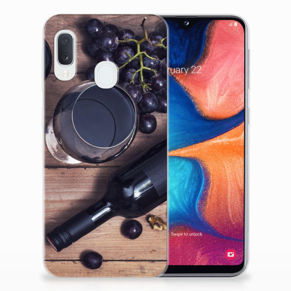 Samsung Galaxy A20e Siliconen Case Wijn