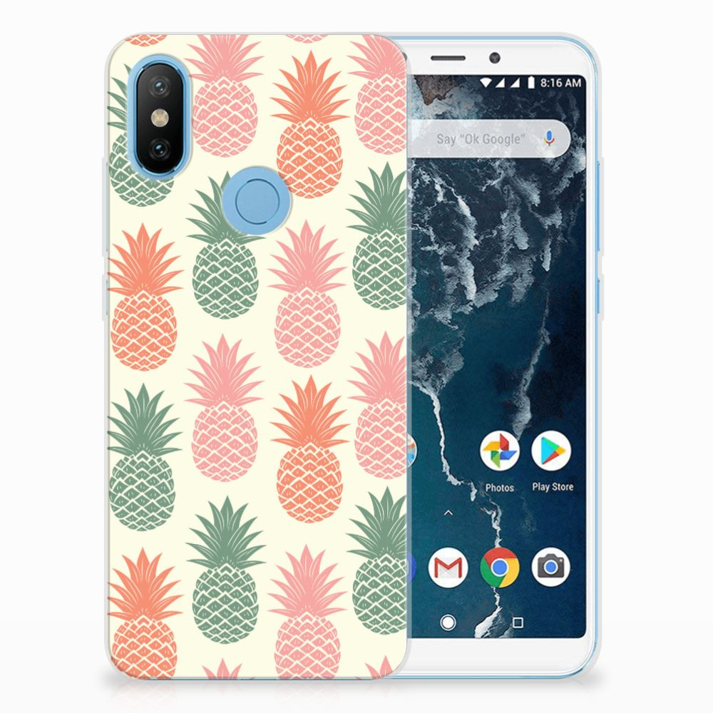 Xiaomi Mi A2 TPU Hoesje Design Ananas