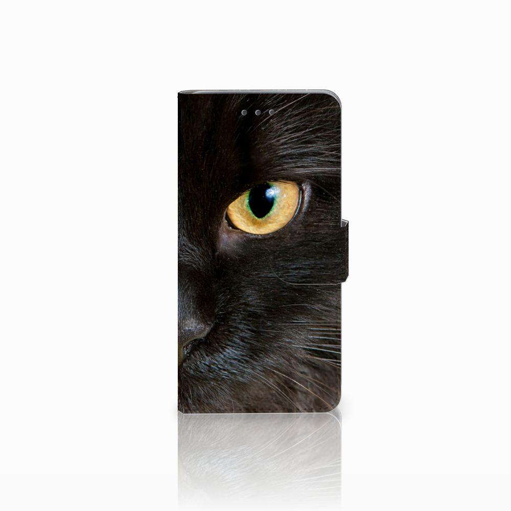 Wiko Lenny 2 Uniek Boekhoesje Zwarte Kat
