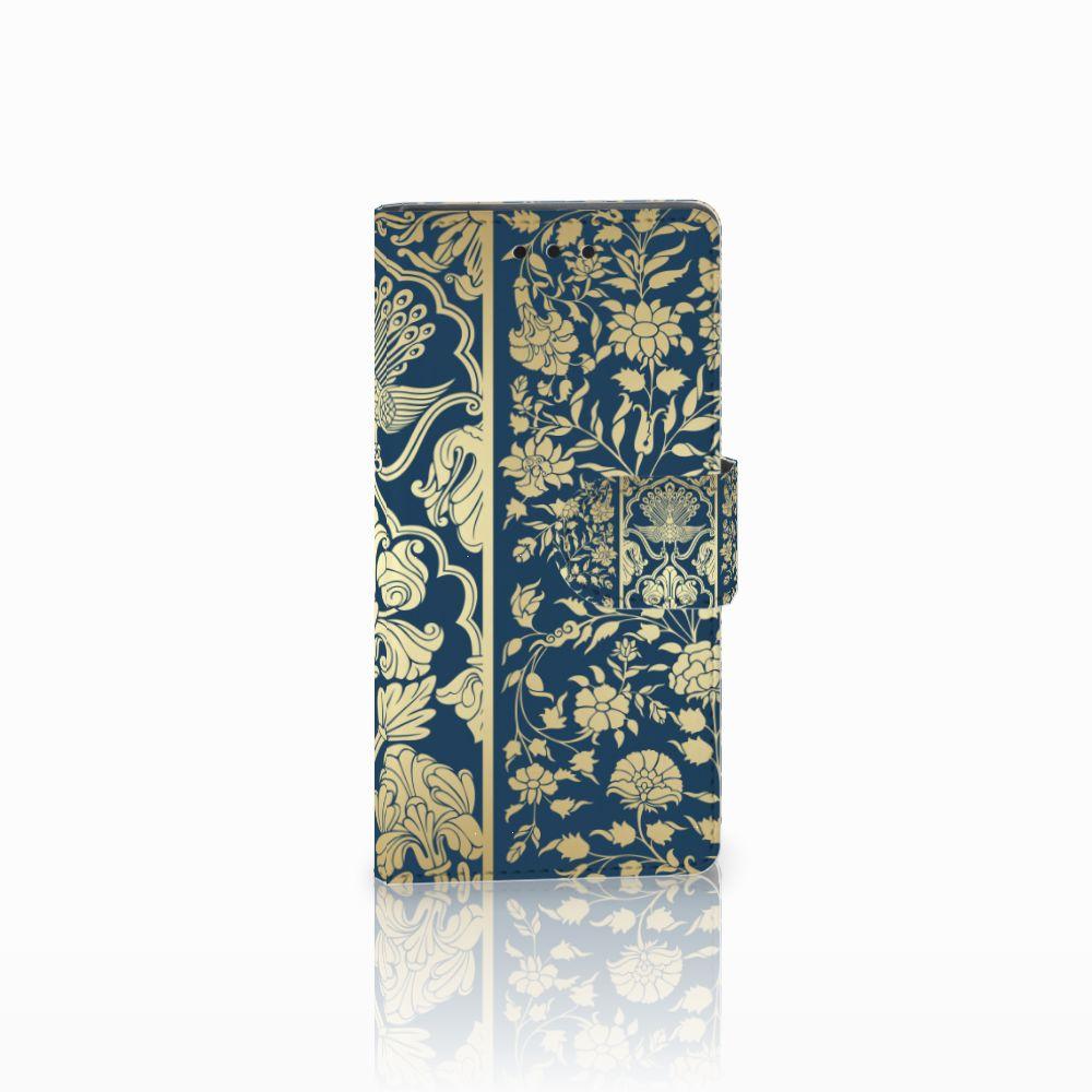 Sony Xperia Z5 Compact Uniek Boekhoesje Golden Flowers