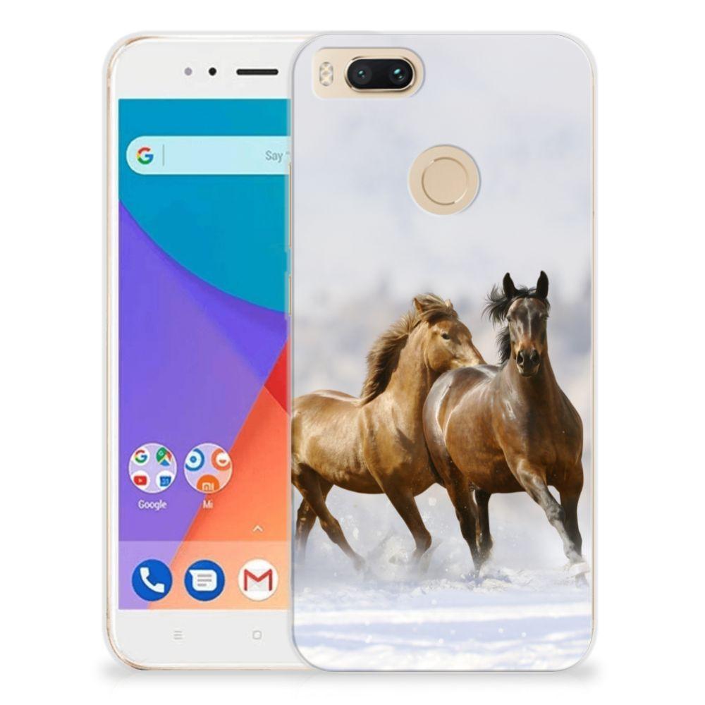 Xiaomi Mi A1 TPU Hoesje Paarden