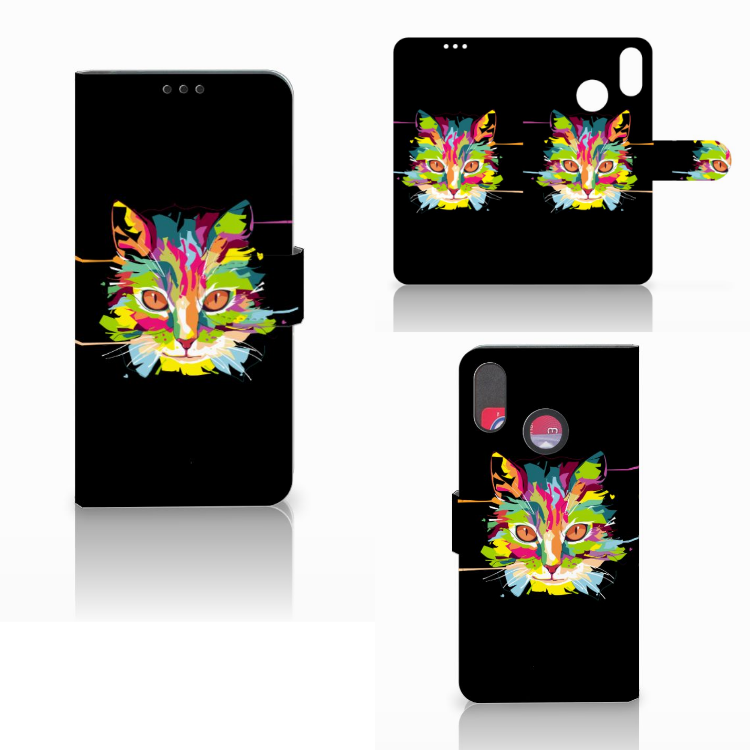 Huawei P Smart Plus Leuke Hoesje Cat Color