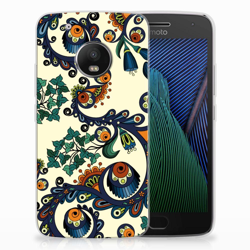 Siliconen Hoesje Motorola Moto G5 Plus Barok Flower