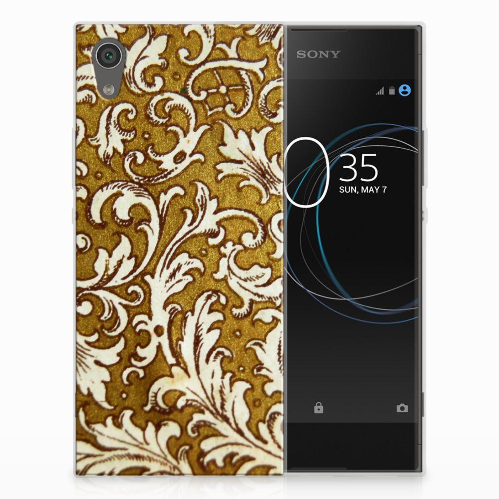 Sony Xperia XA1 TPU Hoesje Design Barok Goud