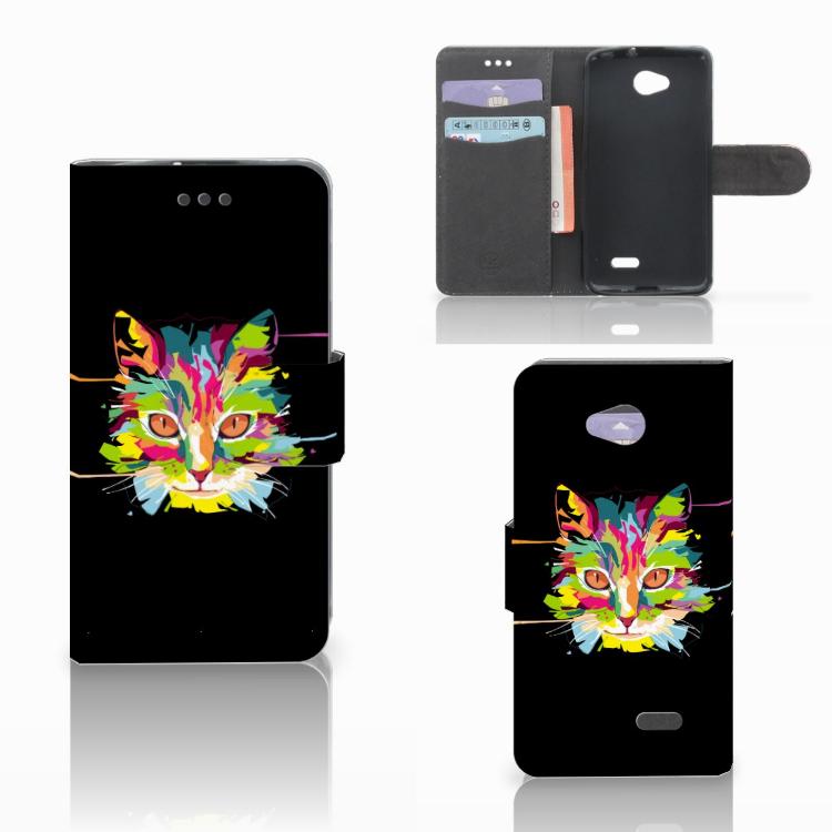 LG L70 Leuk Hoesje Cat Color