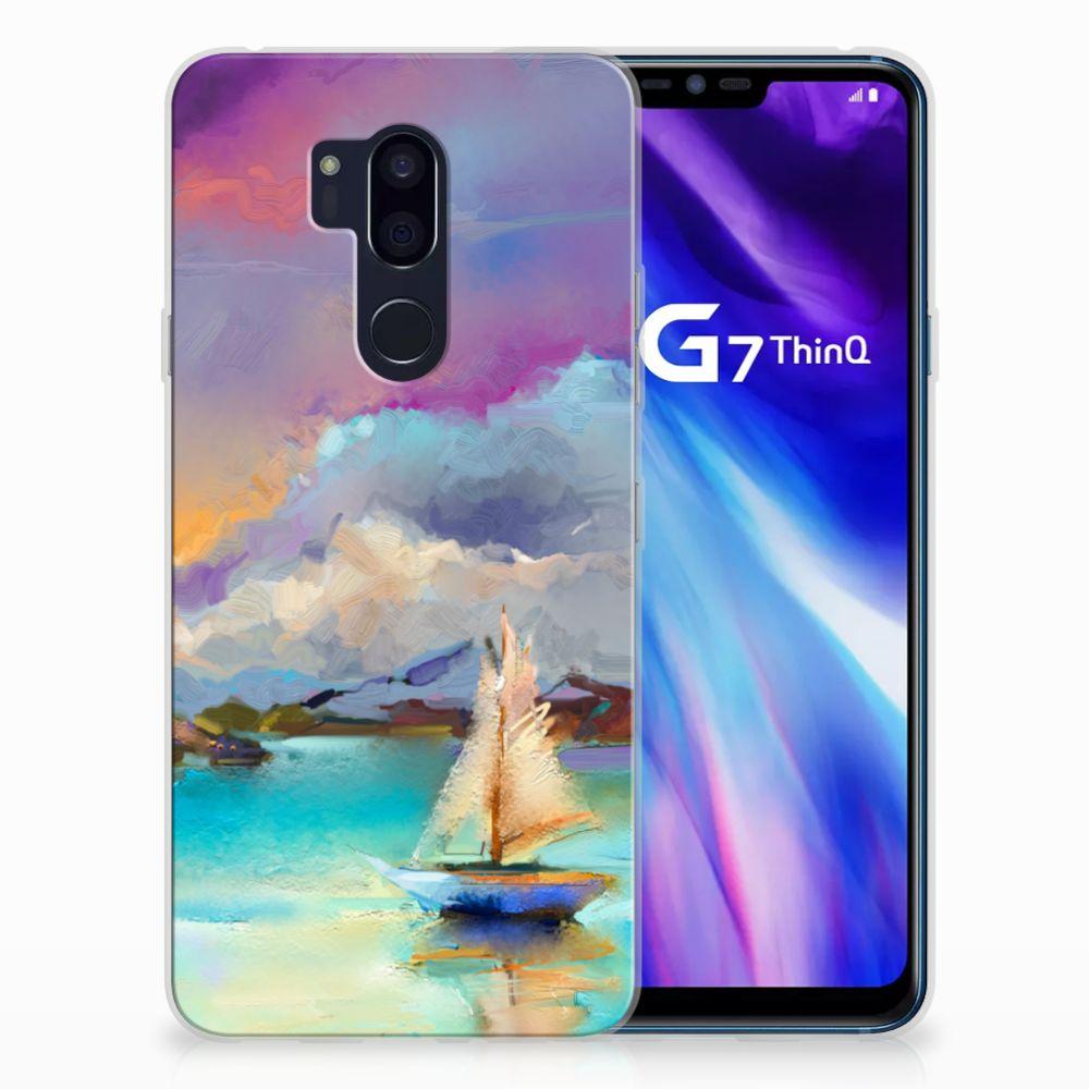 LG G7 Thinq Uniek TPU Hoesje Boat
