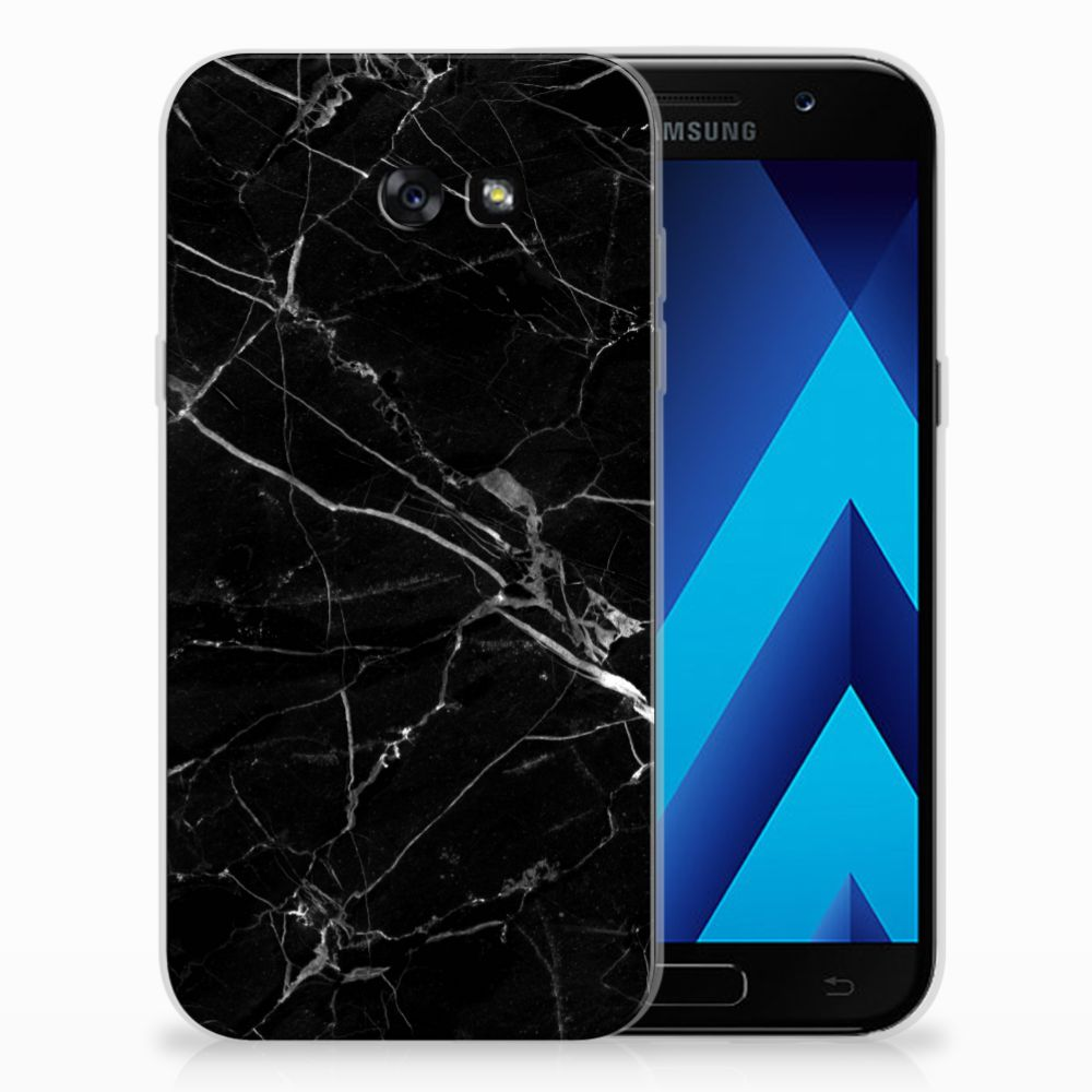 Samsung Galaxy A7 2017 Uniek TPU Hoesje Marmer Zwart