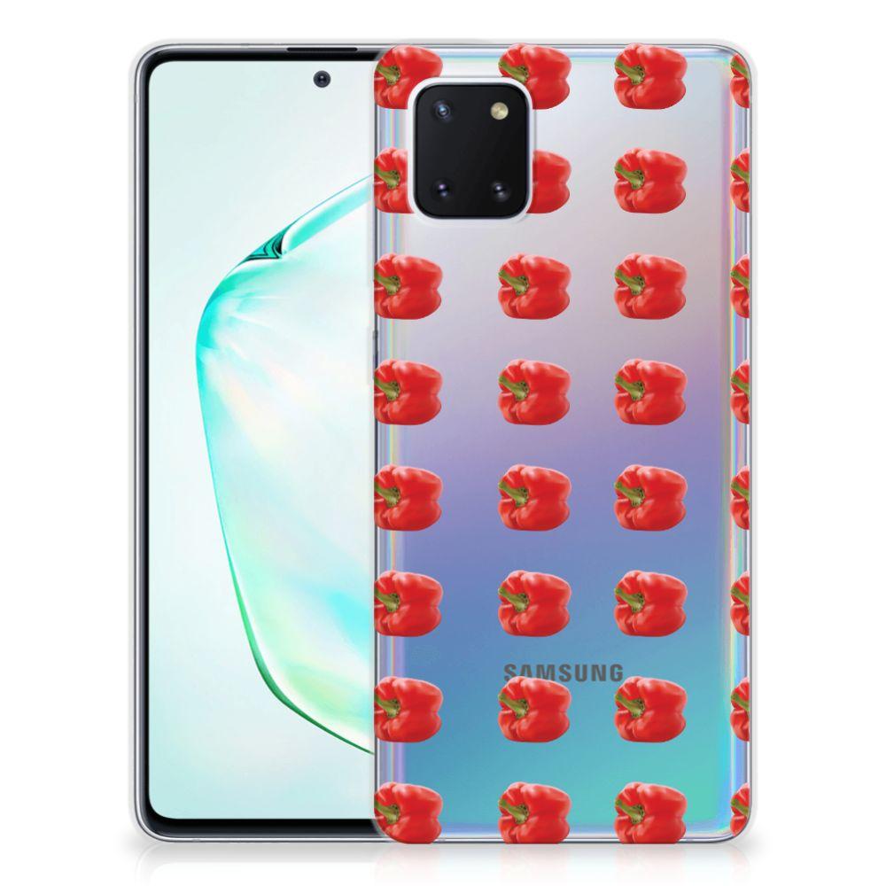 Samsung Galaxy Note 10 Lite Siliconen Case Paprika Red
